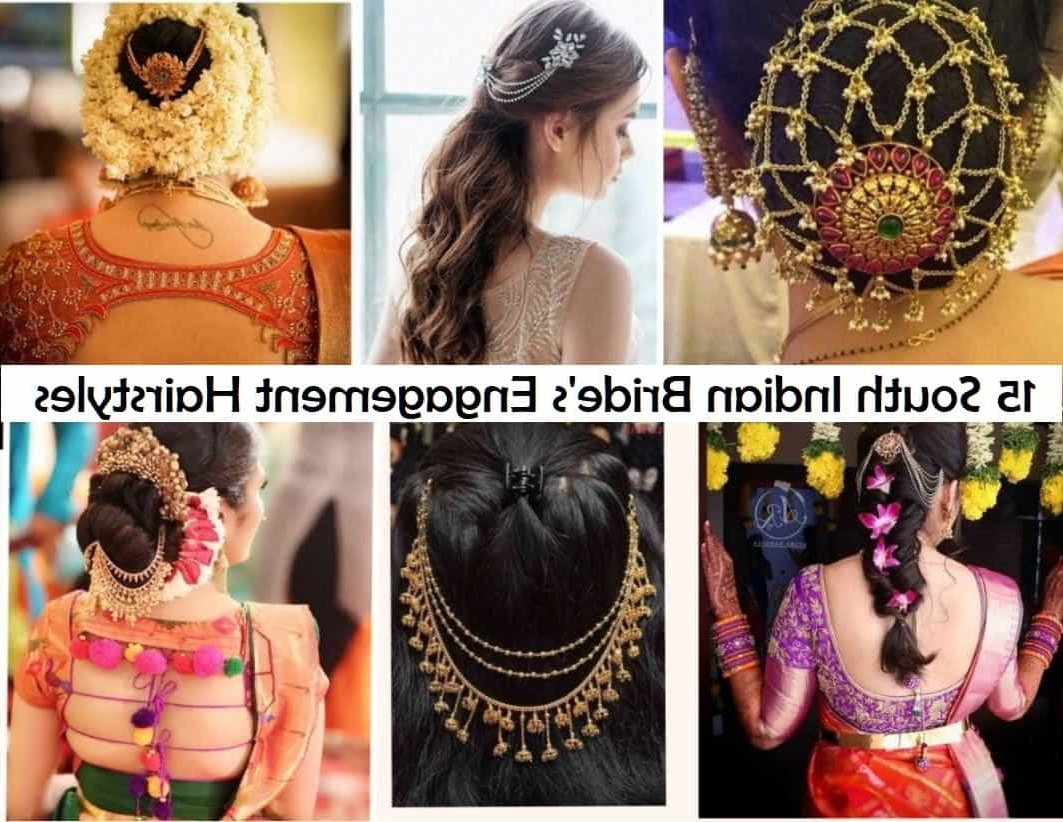15 Popular South Indian Bridal Hairstyles For Engagement South Indian Wedding Hairstyles For Medium Hair