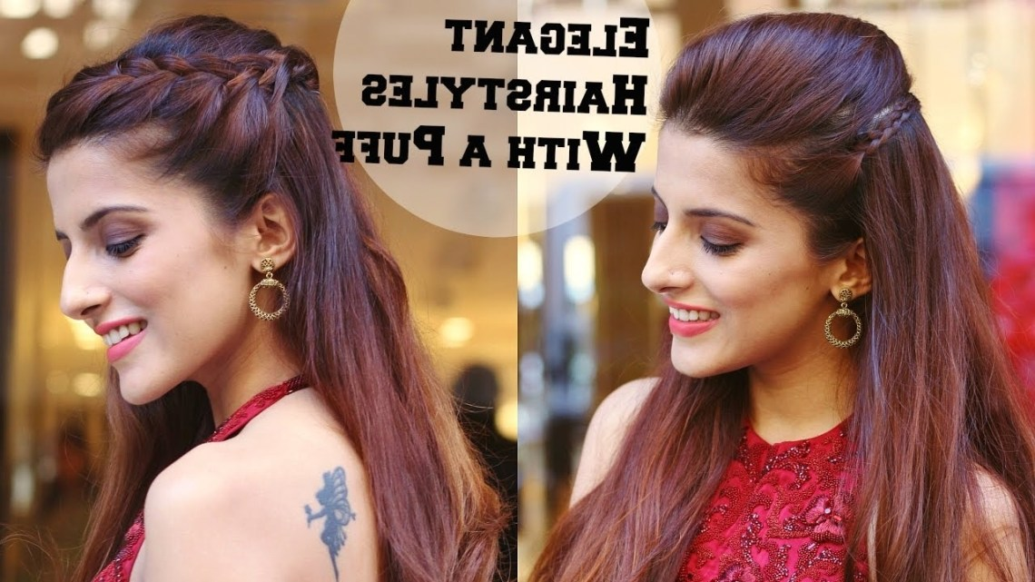 2 Min Elegant Hairstyles With A Puff For A Cocktail Party Hairstyles For Indian Wedding Occasions 10+ Cute Party Hairstyles For Medium Length Hair Indian