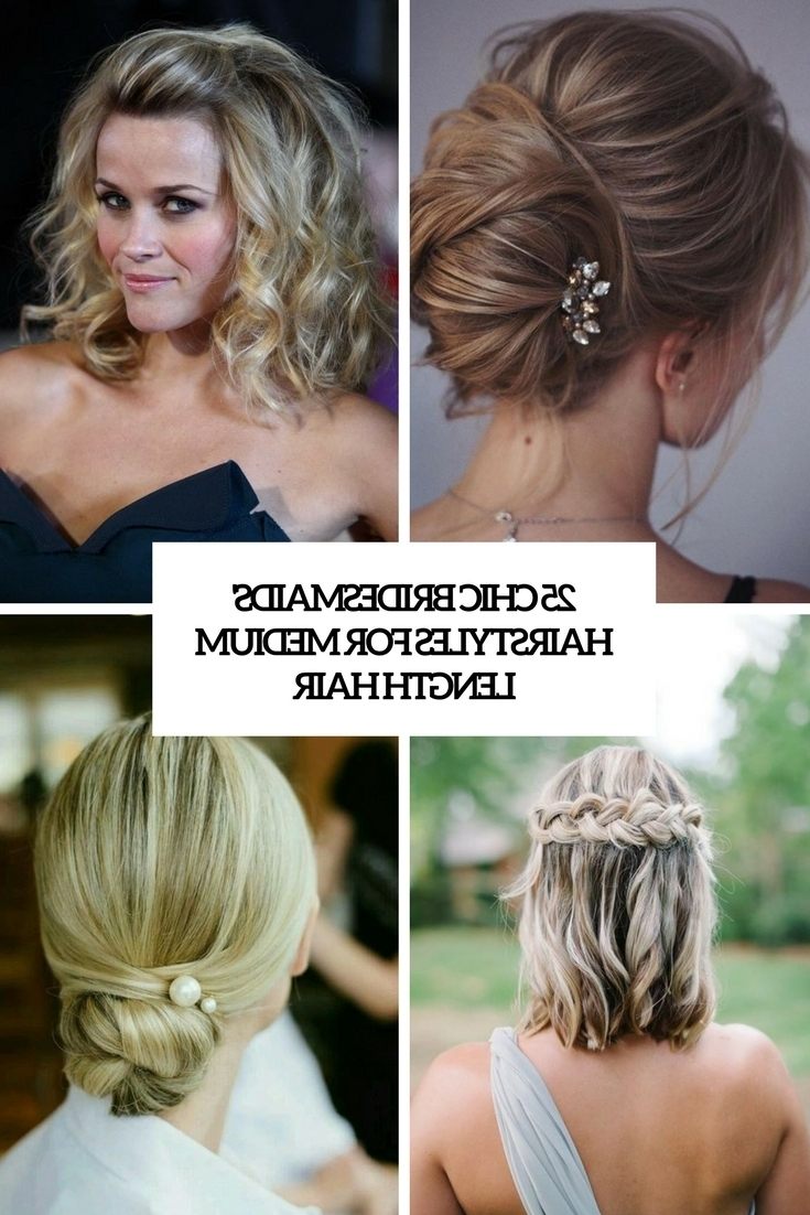 25 Chic Bridesmaids' Hairstyles For Medium Length Hair 10+ Awesome Bridesmaid Hairstyles For Medium Hair