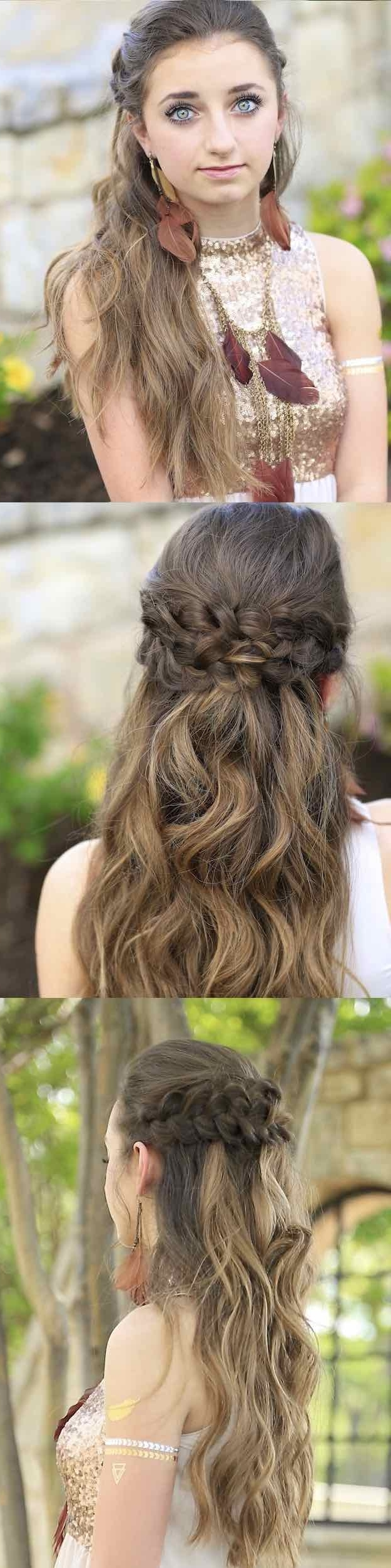 25 Easy Half Up Half Down Hairstyle Tutorials For Prom The 10+ Awesome Easy Hairstyles For Medium Length Hair For Prom