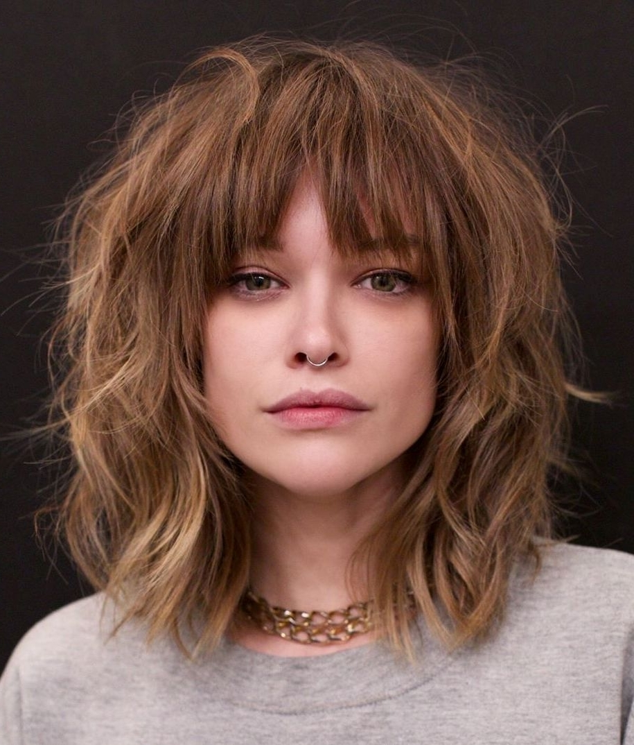 25 Latest Medium Length Hairstyles With Bangs For 2020 40+ Adorable Medium Length Hairstyles With Side Bangs 2018