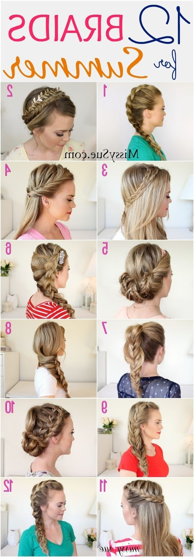26 Pretty Braided Hairstyle For Summer Popular Haircuts Casual Braided Hairstyles For Medium Hair