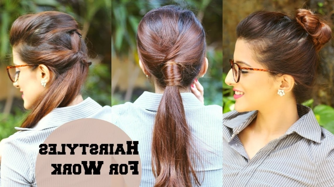 3 Quick Everyday Hairstyles For Work, Office, College / No Teasing, No Hairspray / Indian Hairstyles Everyday Hairstyles For Medium Wavy Hair