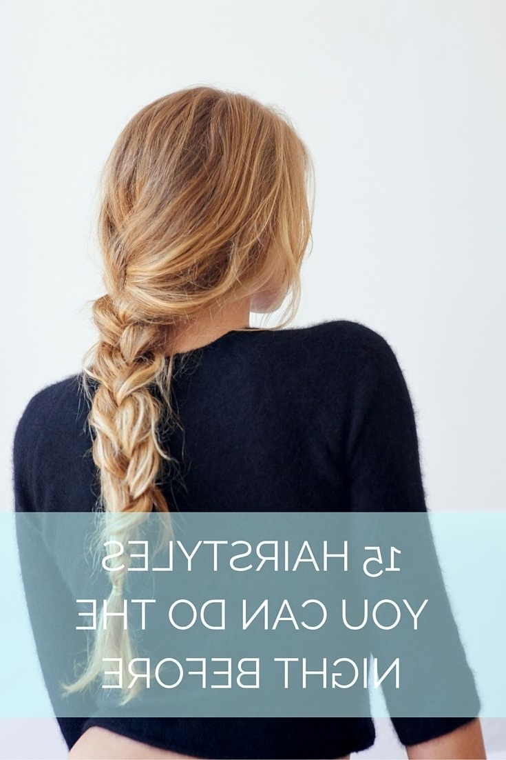 35 Hairstyles You Can Do The Night Before   Easy Morning 20+ Stylish Bedtime Hairstyles For Medium Hair