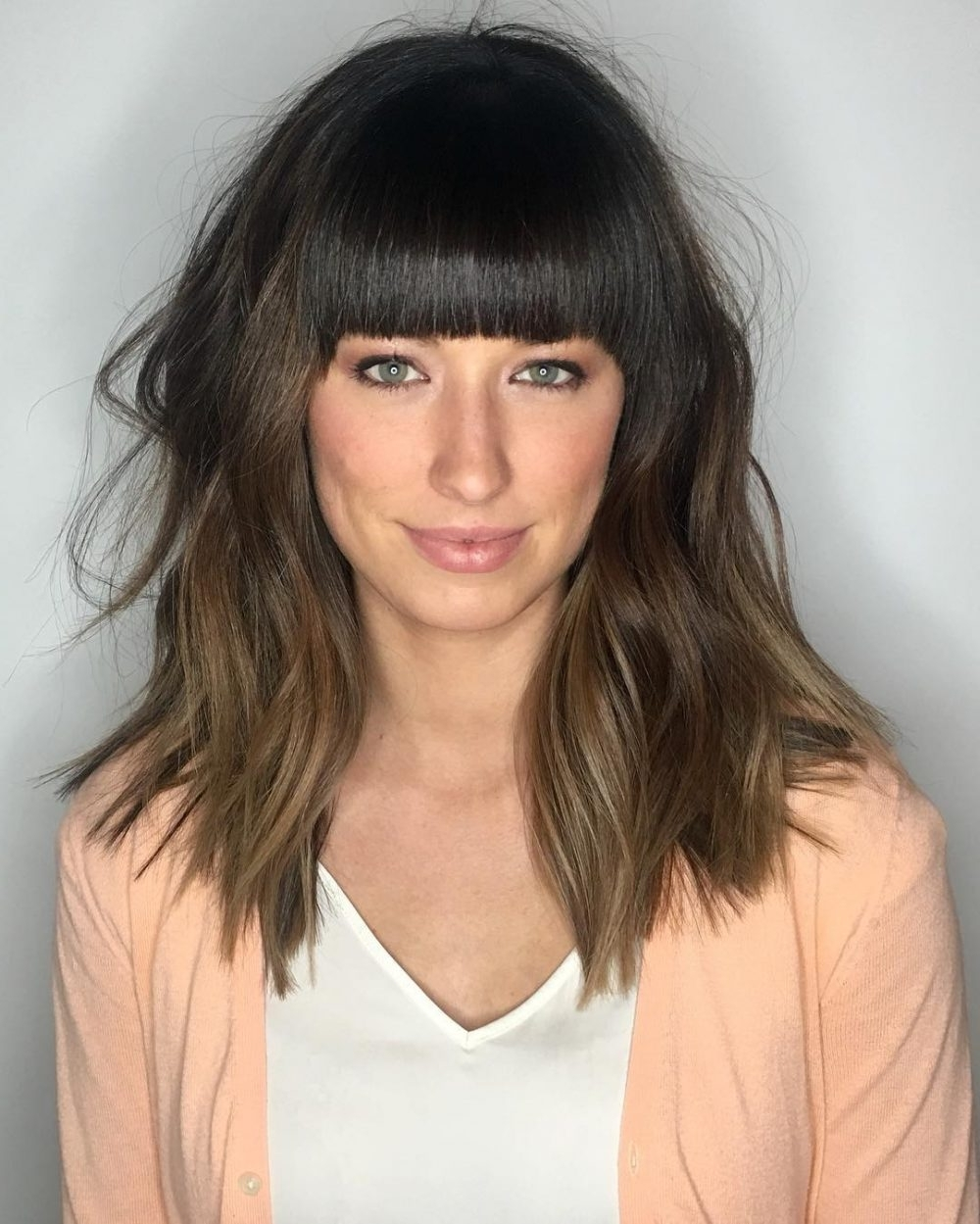 53 Popular Medium Length Hairstyles With Bangs In 2021 Medium Thick Hairstyles With Bangs