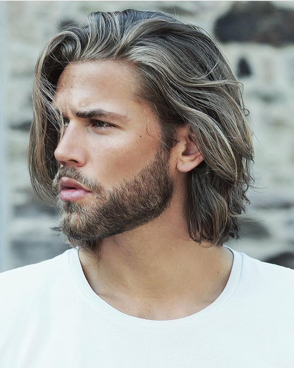 60 Best Medium Length Hairstyles And Haircuts For Men 2018 Mens Medium Hairstyles For Straight Hair