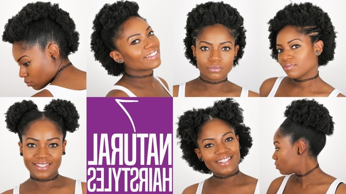 7 Natural Hairstyles (For Short To Medium Length Natural Hair) (4B/4C Hair) 40+ Cute 4C Natural Hairstyles Medium Length