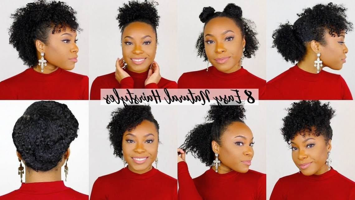 8 Quick & Easy Hairstyles For Short/Medium Natural Hair | Perfect For Type 4 Hair!! Professional Natural Hairstyles For Medium Length Hair