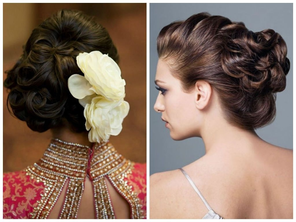 A Gorgeous Updo Option For Medium Length Hair Is To Simply Indian Curly Hairstyles For Medium Length Hair