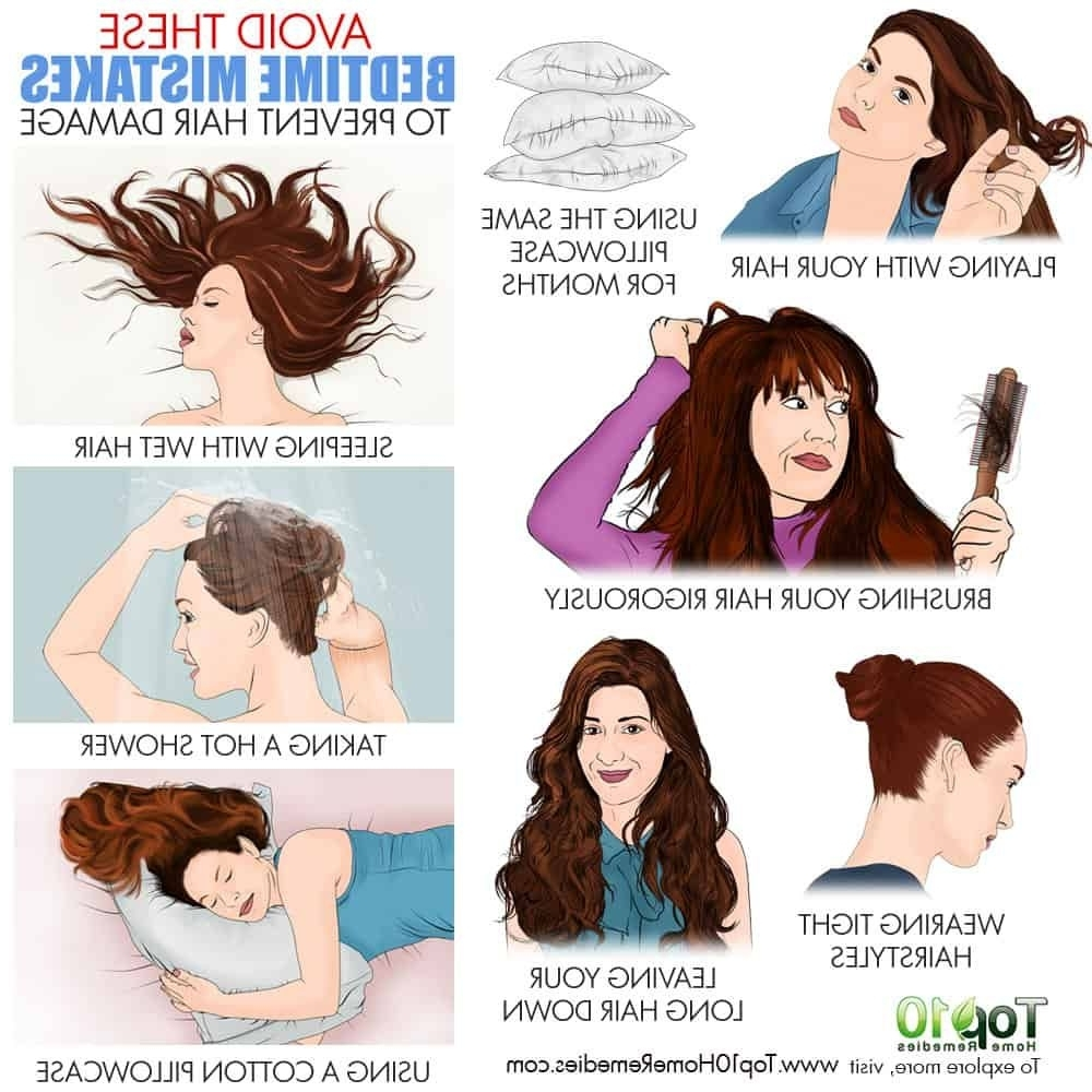 Avoid These 10 Bedtime Mistakes To Prevent Hair Damage   Top Bedtime Hairstyles For Medium Hair