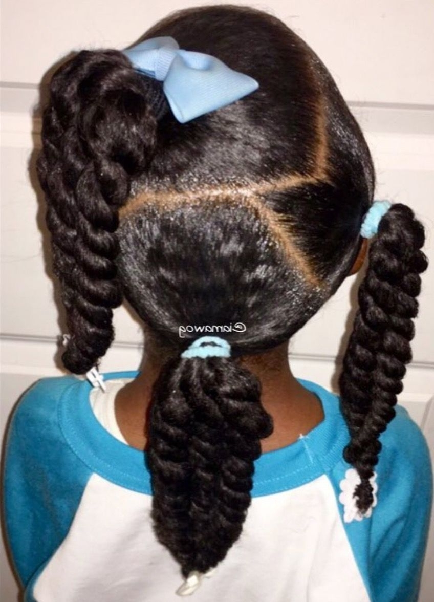Bows And Ponytails | Lil Girl Hairstyles, Natural Hairstyles 40+ Awesome Hairstyles For Little Girls With Medium Hair