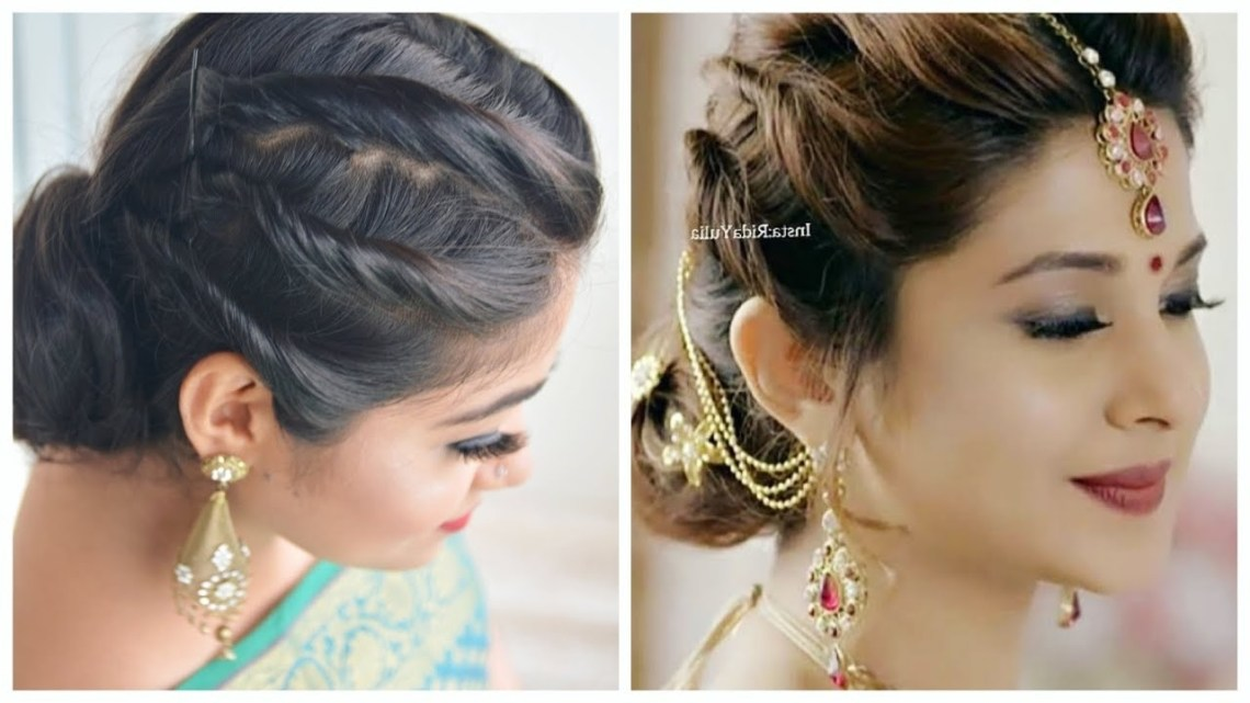 Easy Hairstyle With Saree   Jennifer Winget Hairstyle   Wedding/ Party Hairstyles For Girls 10+ Stunning Hairstyle On Saree For Medium Hair