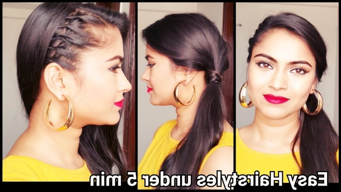 Easy Hairstyles For School/College/Office // Indian Hairstyles For Shoulder Length/Medium/Long Hair Indian Office Hairstyles For Medium Hair