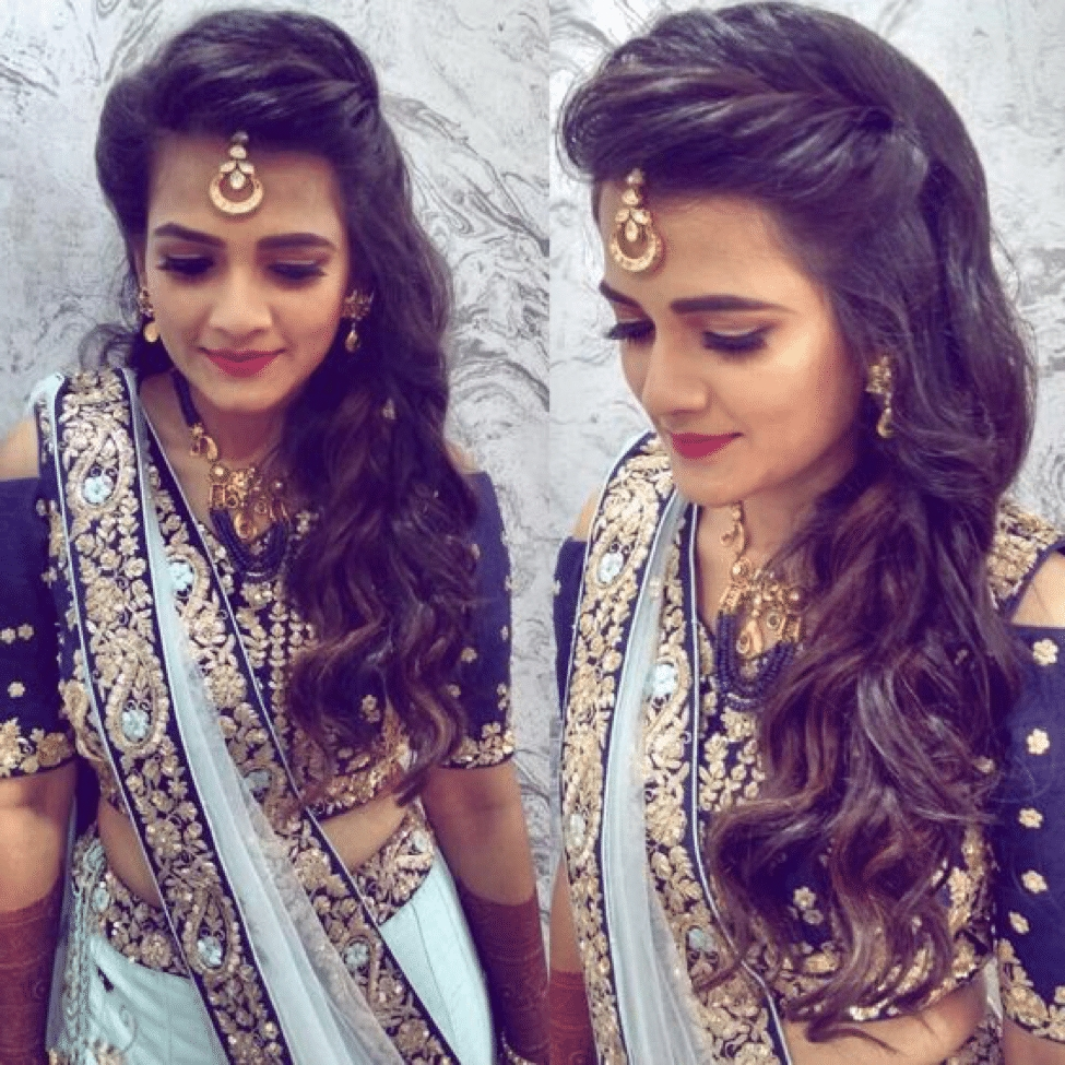 Hairstyle For Indian Wedding Function 2021 Best Hair Looks Party Hairstyles For Medium Length Hair Indian
