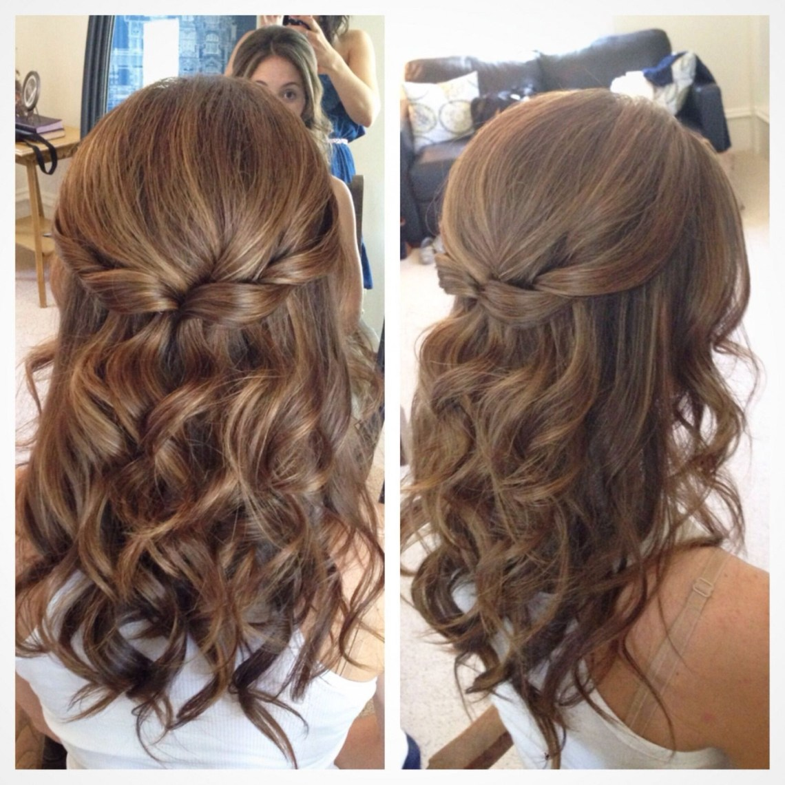 Half Up Half Down Wedding Hairstyles For Medium Length Hair Half Up Half Down Formal Hairstyles For Medium Hair
