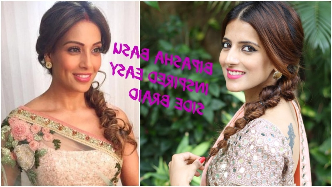 Indian Hairstyles For Saree For Medium To Long Hair / Prom/ Party / Wedding Hairstyles Bipasha Basu Hairstyle On Saree For Medium Hair