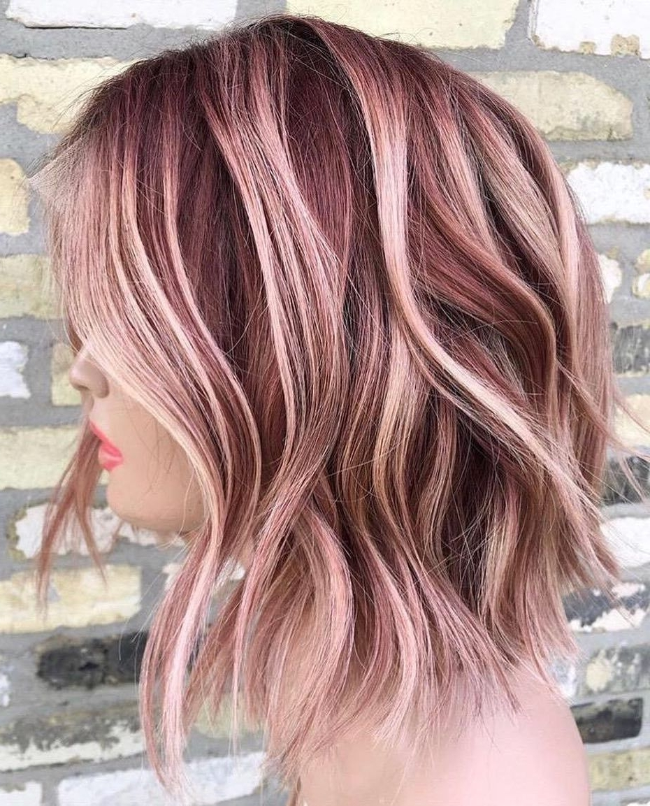 Medium Hair Color Ideas, Shoulder Length Hairstyle For Medium Length Two Tone Hair Color Short Hairstyles