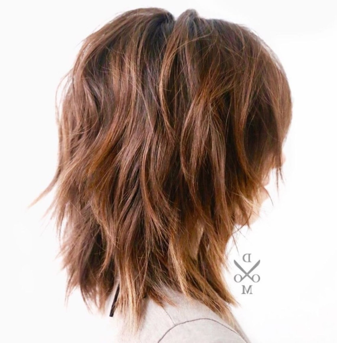 Medium Shaggy Layered Hairstyle For Thick Frizzy Hair Layered Low Maintenance Medium Length Hairstyles For Thick Hair