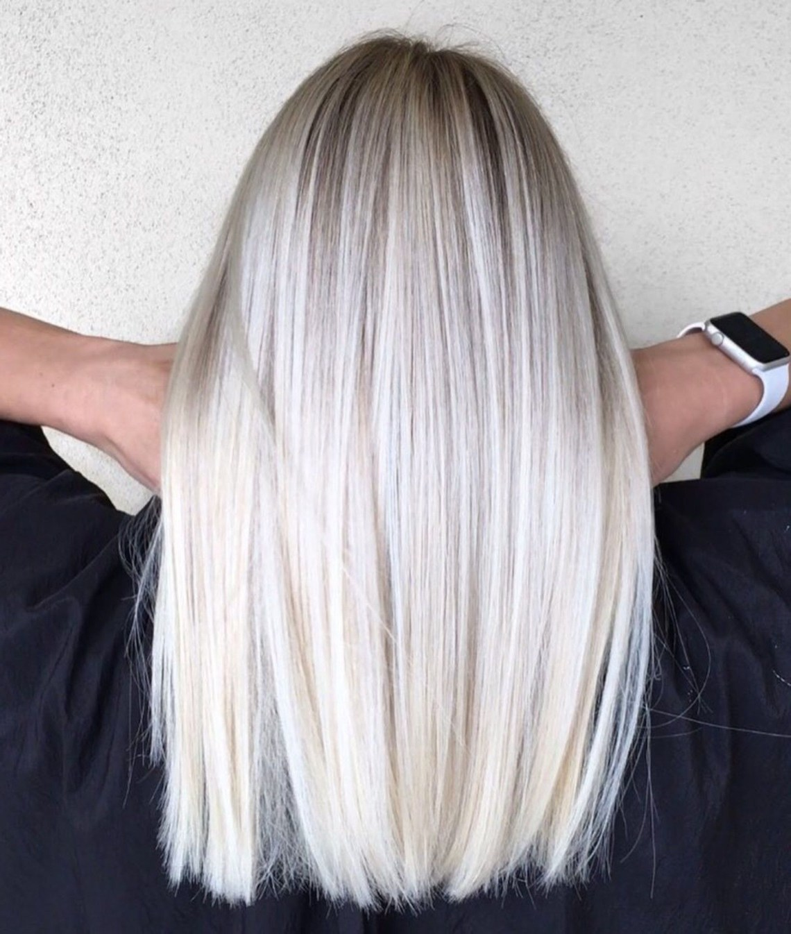 Mid Length Straight Platinum Blonde Hair | Thin Hair Medium Length Blonde Hairstyles Straight