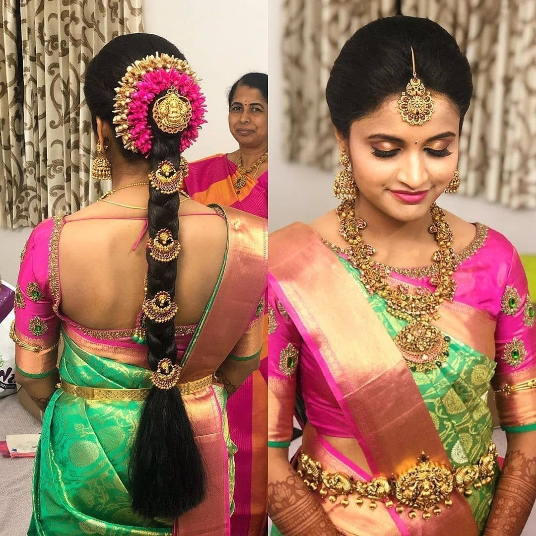 """Missblouses On Instagram: """"Bridal Blouse Inspiration! . Hair 10+ Awesome South Indian Wedding Hairstyles For Medium Hair"""