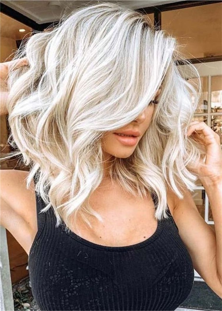 Stunning Blonde Hair Color Ideas With Styles For You; Blonde Cute Blonde Hairstyles For Medium Length Hair