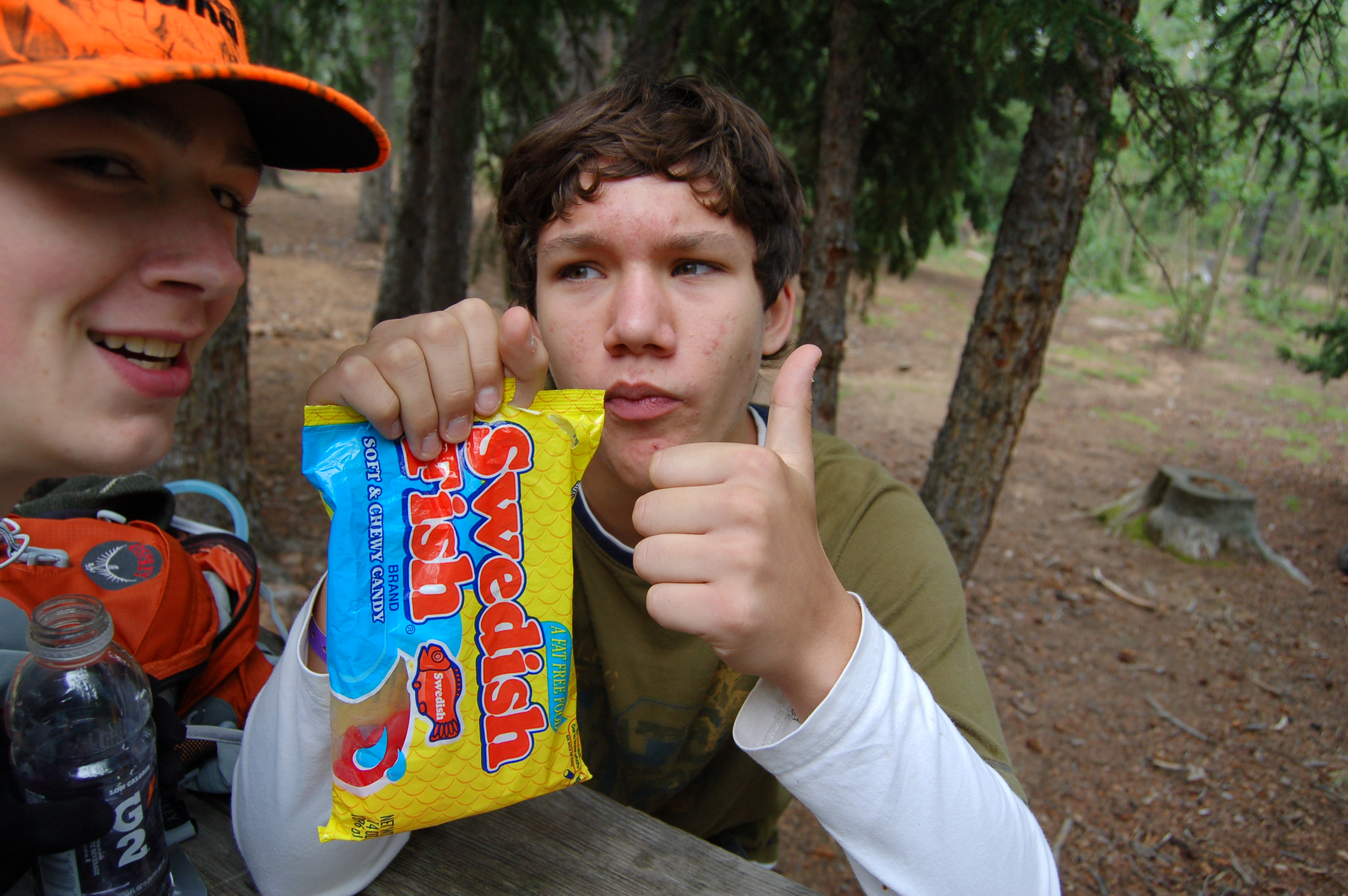 Taylor (L) and son, Andy at the Barr Campground, Pikes Peak