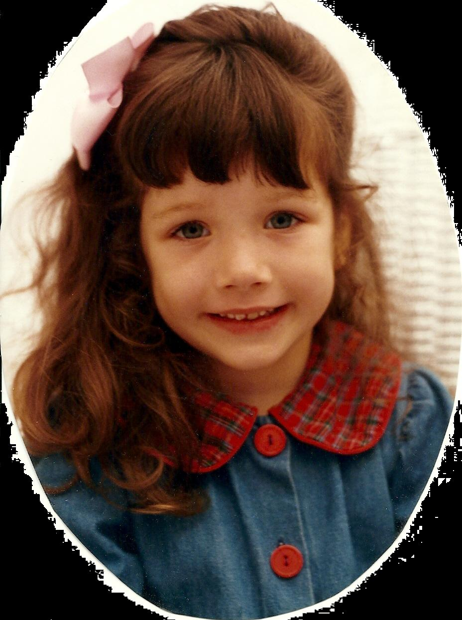 My daughter, Liz, yesterday when she was little.  Today she's 18 and off off to live on her own.