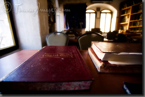 Bible study area in a synagogue