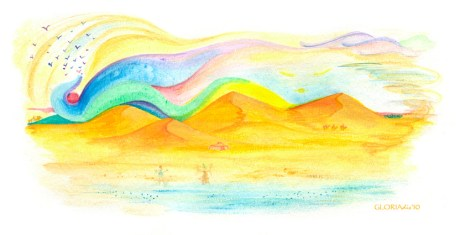 Dance of colours between sky and sea