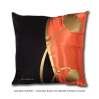 Golden Poppies - Throw pillow cm 40x40
