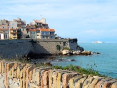 View of a village in Antibes