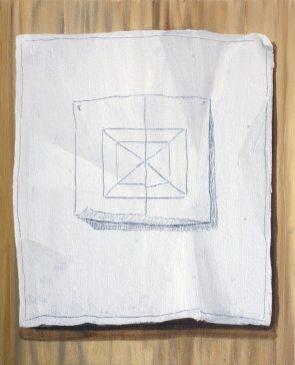"GloriaMartin. ""Modelo y Modo"" (Serie tratados) II Óleo sobre lienzo. 2018. 27x22cm."