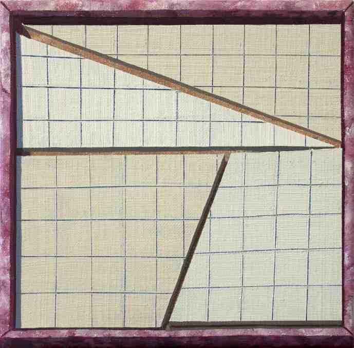 """GloriaMartin. """"Caja 8"""". 2019. Óleo sobre lienzo. 38x46cm."""