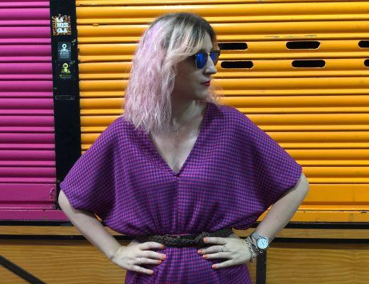 look con vestido oversize
