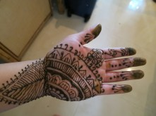 Henna for the first time!