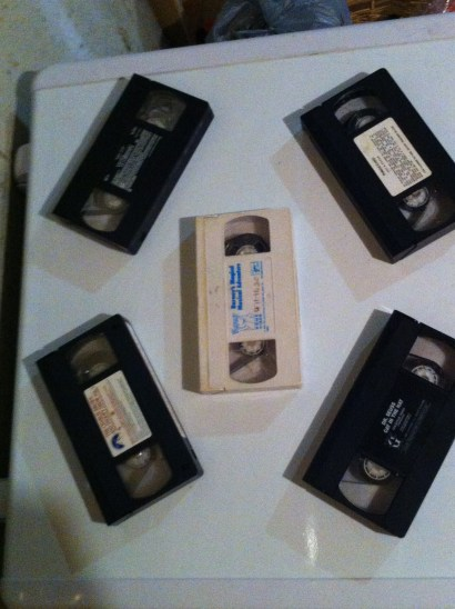 A bunch of VCR's!