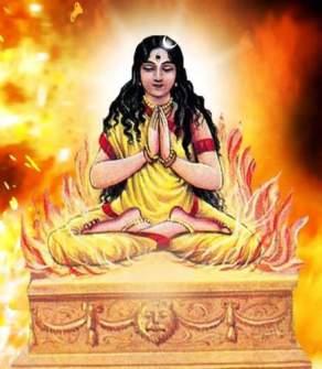 Sati immolates herself.jpg