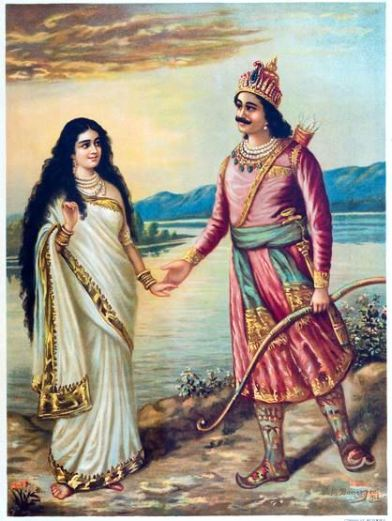 Shantanu meets a beautiful woman who is Ganga