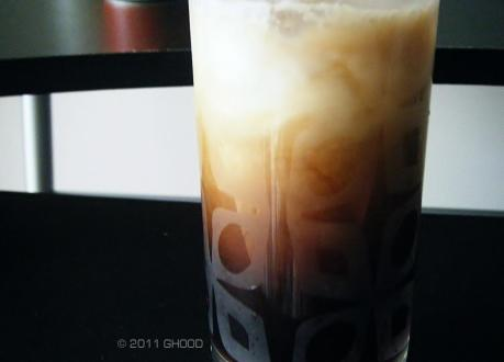 iced coffee on a hot day