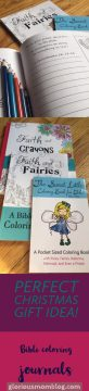 Bible Coloring Journals and Coloring Book by Anna Travis.