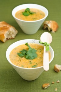 Pumpkin, Sweet Potato, Leek and Coconut Milk Soup recipe