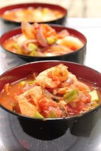 Salmon and Garbanzo Bean Soup