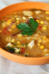 How To Make Corn and Chicken Soup