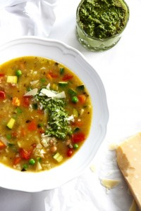 Veggie Pesto Soup Recipe