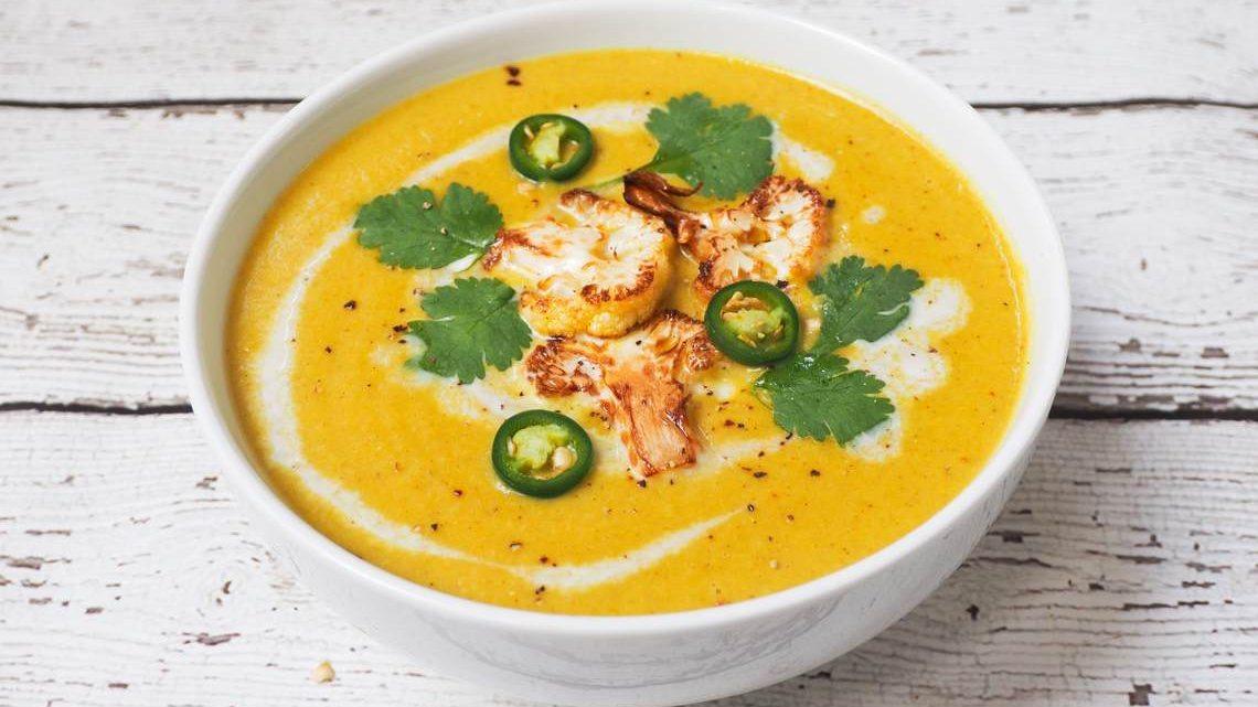 Recipe For Spiced Cauliflower Soup : Glorious Soup Recipes