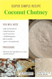 Recipe of Coconut Chutney, a famous South Indian breakfast accompaniment