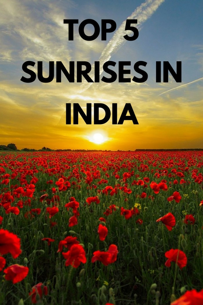 glorious sunrise India
