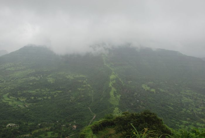 View from top of Tikona fort