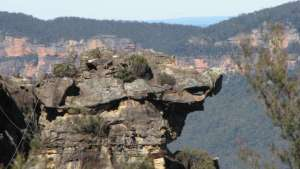 Dragon Rock Katoomba - Boars head rock at Cahill's lookout