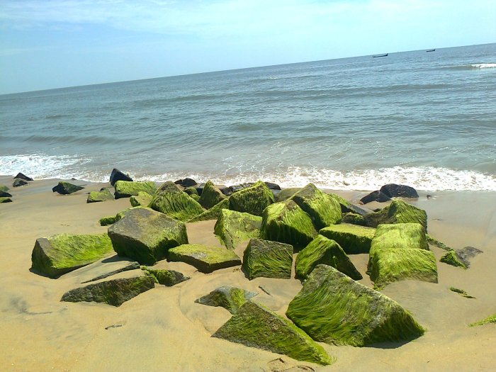 Rocks on the beach at Bekal